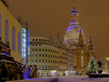Frauenkirche Church at Christmas Photographic Print