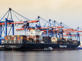 Container Vessel in Hamburg Harbour Photographic Print