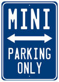 Mini Parking Blechschild
