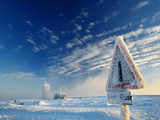 Icy Streetsign at Brocken/Harz Germany Photographic Print by Bodo Ulmenstein