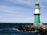 Lighthouse in Warnemünde Photographic Print by Olivia Nowak