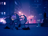 Sculpture by Thomas Saraceno on Rossmarkt Square in Frankfurt Main Photographic Print by Carsten Bockermann