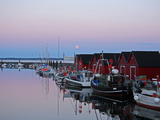 Fishing Port Boltenhagen Tarnewitz Baltic Sea at Sunset on Full Moon Photographic Print by Anton Kothe