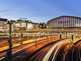 Hamburg Central Station in the Evening Photographic Print by Christian Ohde