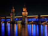 The Oberbaum Bridge Illuminates of Lights 2010 Photographic Print by Daniel Hohlfeld