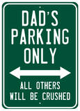 Dads Parking Cartel de chapa