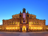 Semper Opera in Dresden Photographic Print by  Weber