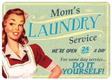 Moms Laundry Emaille bord