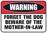 Beware Mother Tin Sign