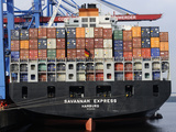 Container Vessel in Hamburg Harbour Photographic Print by Christian Ohde