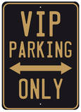 VIP Parking Tin Sign