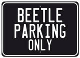 Beetle Parking Cartel de chapa