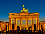Brandenburg Gate at Night Photographic Print by Bernd Leitner
