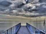 Ijssel Lake in the Netherlands with Cloudy Sky Hdr Photographic Print by Knut Niehus
