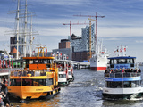 Harbour Ferries in Hamburg Photographic Print by Christian Ohde