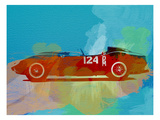 Ferrari Testa Rossa Watercolor 1 Prints by  NaxArt