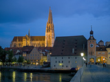 Danube River and Saint Peters Cathedral Photographic Print by Peter Widmann