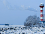 Lighthouse Wittenbergen in Winter Photographic Print by Bodo Ulmenstein