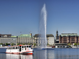 Lake Alster in Hamburg Photographic Print by Christian Ohde