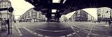 Panorama of the Berlin Underground Station Eberswalder Street in Prenzlauer Berg Schönhausener Alle Fotodruck von Daniel Hohlfeld