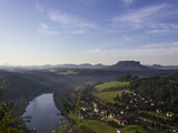 View from the Ramparts of the Elbe in Saxon Switzerland in the Morning Photographic Print by Dietmar Wuth