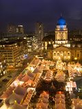 Christmas Market in Berlin at Night Photographic Print by  Synchropics