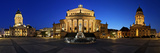 Panorama Gendarme Market in Berlin Center to the Blue Hour Photographic Print by Daniel Hohlfeld