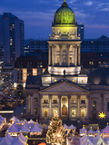 Christmas Market on the Gendarmenmarkt Market Place in Berlin Photographic Print by  Synchropics