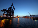 Containerterminal Photographic Print by Bernd Ellerbrock