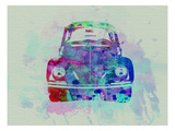VW Beetle Watercolor 2 Premium Giclee Print by  NaxArt