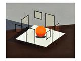 B Orange Prints by Vaan Manoukian
