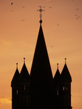 Silhouette of Church Photographic Print by Luis Castaneda