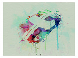 Ford Gt Top Watercolor Posters by  NaxArt