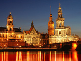 Dresden at Night Photographic Print