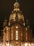 Church of Our Lady Dresden by Night Photographic Print by Thomas Jaeger