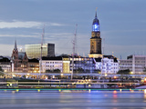 Illumination Blue Port 2010 in Hamburg Photographic Print by Christian Ohde