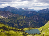 Seealpe Seealpsee with the Fog Horn Photographic Print by Frank Roeder