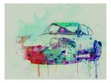 Porsche 911 Watercolor 2 Reproduction giclée Premium par  NaxArt