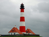 Lighthouse from Westerhever Photographic Print by Walter Allgoewer
