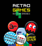Retro Games Badge Pack Badge