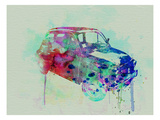 Fiat 500 Watercolor Poster by  NaxArt
