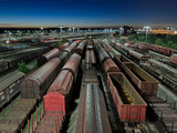 At Night on a Freight Station Photographic Print by Frank Marten