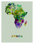 Africa Color Splatter Map Póster por  NaxArt