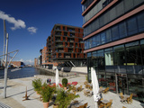 Modern Buildings at Sandtorkai in Hamburg Photographic Print by Christian Ohde