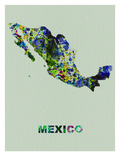Mexico Color Splatter Map Prints by  NaxArt