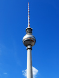 Berlin Alexanderplatz with Ty Tower in Front of Blue Sky Photographic Print by  Synchropics