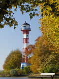 Lighthouse Wittenbergen in Hamburg Photographic Print by Christian Ohde