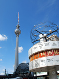 Berlin Alexanderplatz Station with Tv Tower and World Time Clock Photographic Print by Synchropics