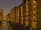 Speicherstadt at Night Photographic Print by Andreas Rose