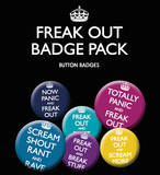 Now Panic & Freak Out Badge Pack Badge